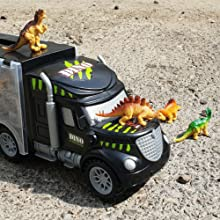 dinosaur truck,dinosaur kids,dinosaur toys for 2 year old boy,toy semi truck and trailer