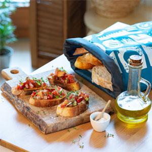 reusable cotton bread bag for homemade bread paper