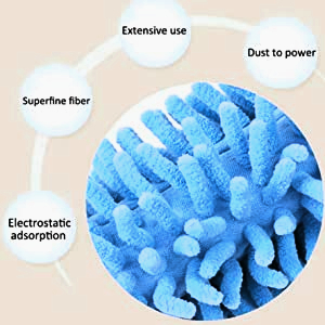 microfiber duster for fan cleaning