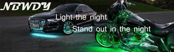nbwdy led motorcycle light kit