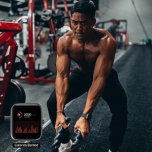 Mcnnadi Smart Watch Fitness Tracker Health Monitor - Gym Activity Tracker