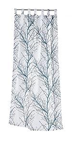 Tab Top Branch Sheer Curtains