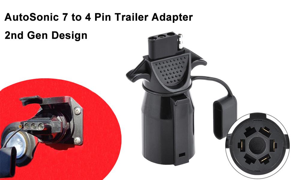 Amazon Com  Autosonic 7 Way Blade To 4 Way Flat Trailer