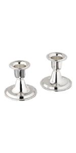 Shabbat silver candlestick holders