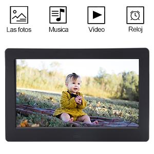 Marcos de Fotos Digital de 7 Pulgadas IPS Full HD CofunKool Marco Digital Reproductor de Audio MP3 MP4/el Interruptor del ...