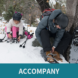 snowshoes for accompany