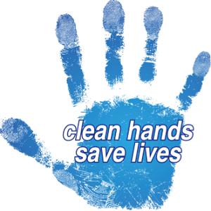 clean hands save lives, wish hand sanitizer