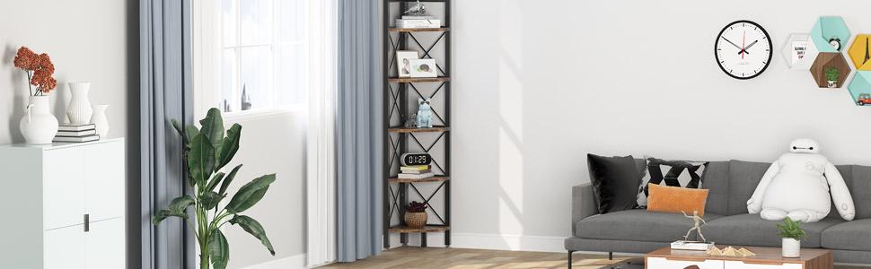 living room corner shelf
