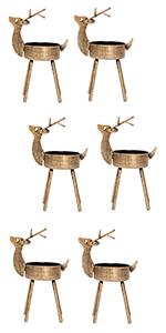 Reindeer Tealight Candle Holders, 6 Pack