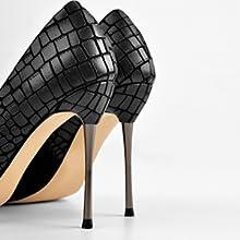 Missheel Metallabsatz Metall Absatz Metal heels Stilettos Pfennigabsatz High Heels Pumps
