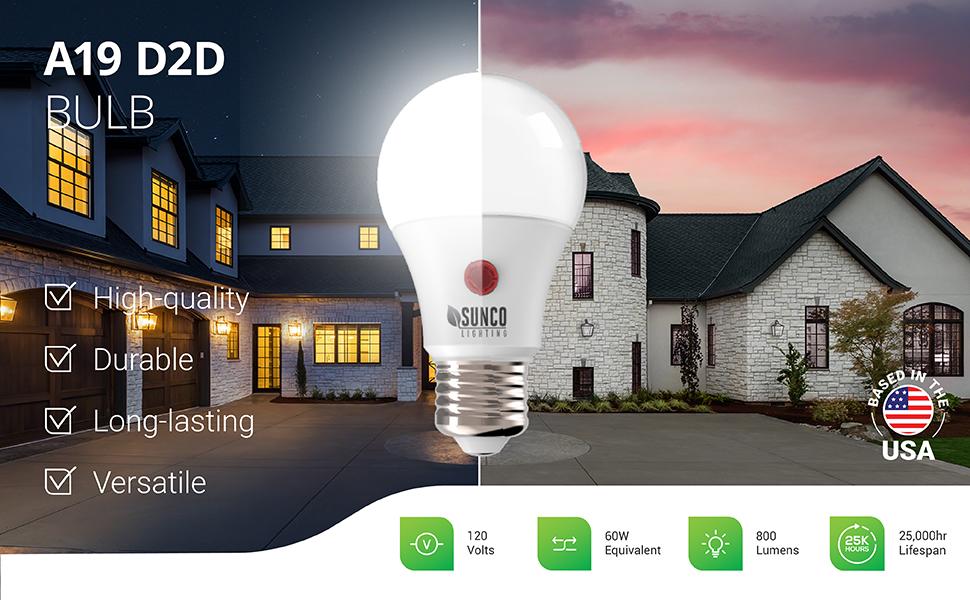 a19 dusk to dawn led bulb e26  security light