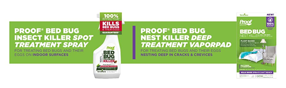 Proof bed bug and Dust Mite Killer, bed bug treatment spray, kill bed bugs, kill dust mites