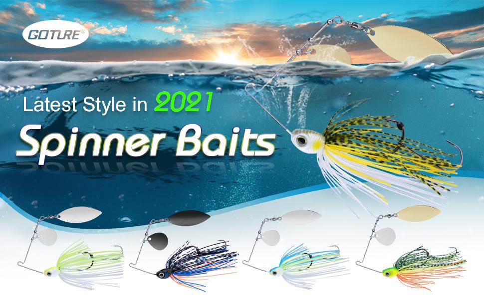 fishing jigs lure for bass spinner baits  kit set
