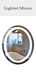 22'' x 28'' Upgraded Oval LED Mirror
