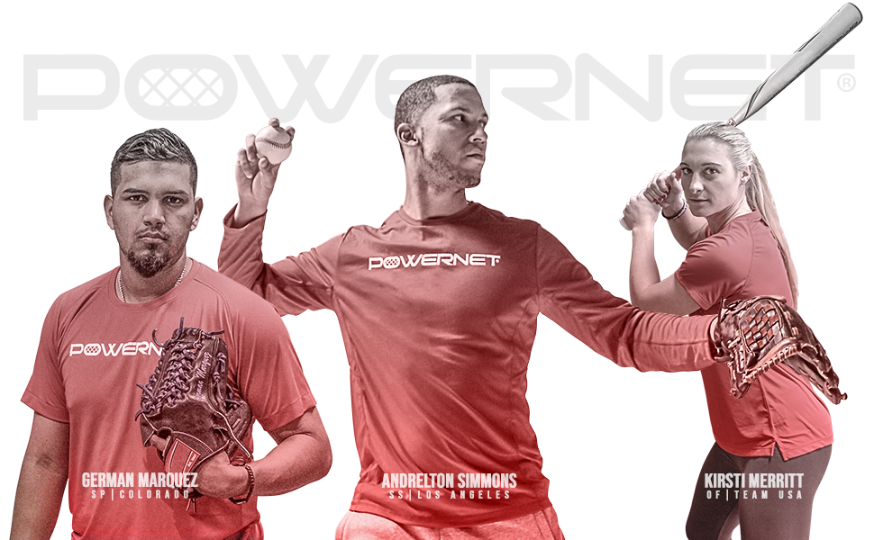 PowerNet Training Gear is used and endorsed by MLB and NPF professional players.