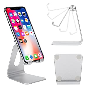 Universal phone stand for desk office kitchen Compatible with Mobile Phone Aluminum anti-scratch