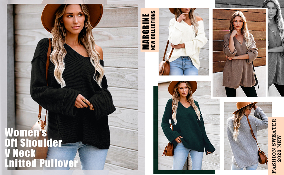 Sweater Casual Oversized Baggy Loose Fitting Shirts Off Shoulder Batwing Sleeve Pullover Tops