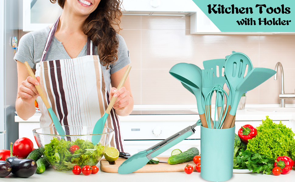 The ultimate Silicone Kitchenware Set that has everything you need to make great and delicious meals