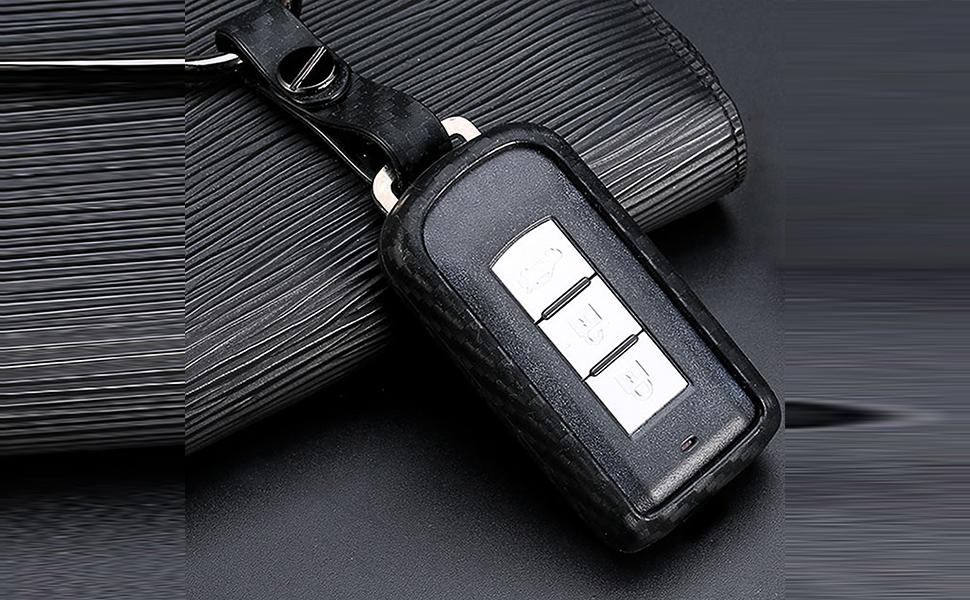 carbon fiber pattern key fob protector for Mitsubishi
