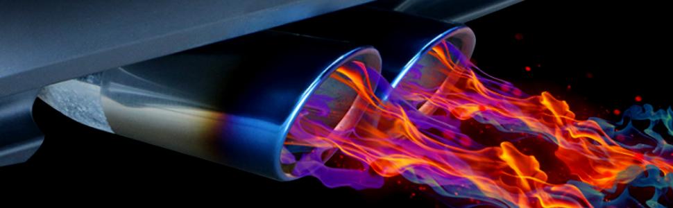 Top-Longer Terminales Embellecedores del Tubo de Escape de 2Pcs