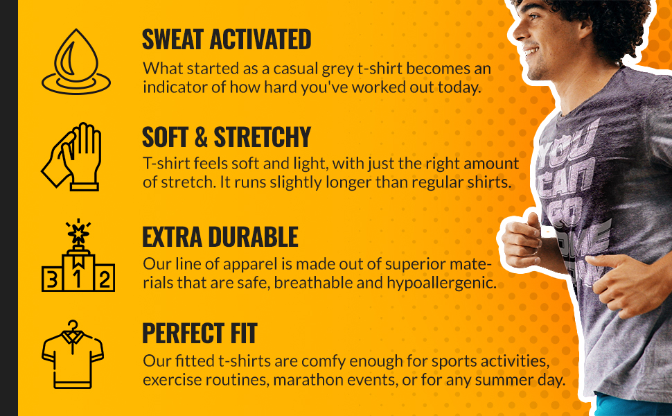 actizio sweat activated shirts in different designs, sweat activated men, women t-shirts & tank tops