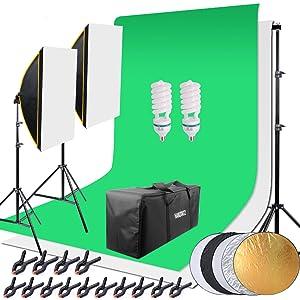 Fotostudioschirm Hintergrundsystem Fotostudioset Greennscreen set