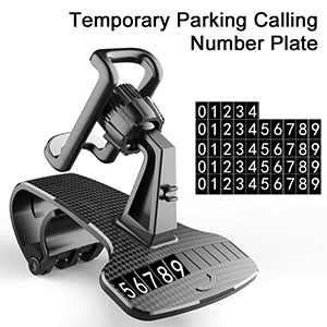 car phone mount with phone number plate