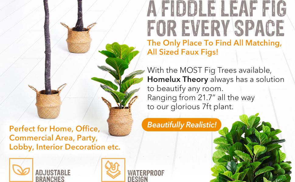 realistic Silk Fiddle Leaf Fig Plant to beautify any room.  It's faux natural decor made easy