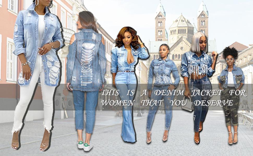 SeNight Jeans Jacket