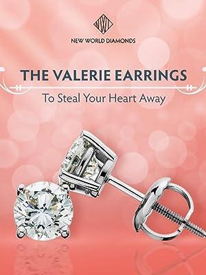 Lab Grown Diamonds Stud Earrings Conflict Free IGI Certified Gift Christmas Womens
