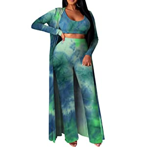 women 3 pieces outfis