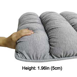 Grey Big Hippo Chair Pads Square Cotton Chair Cushion with Ties Soft Thicken Seat Pads Cushion Pillow for Office,Home or Car Sitting 17 x 17