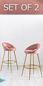 dusty pink barstools