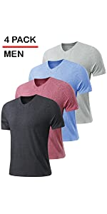 mens cotton blend v neck tshirts