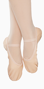 ballet shoes for girls leather