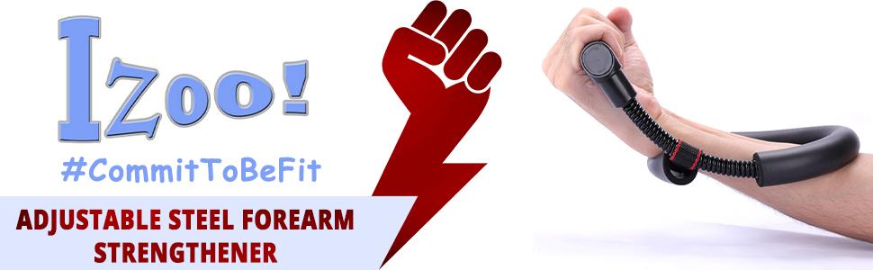 SPN-TP3A0 Izoo Adjustable Steel Forearm Strengthener Wrist Exerciser Develop exercise equipment