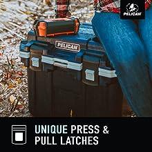 pelican 30qt cooler press amp; pull latches