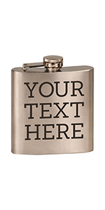 personalized etched stainless steel flask