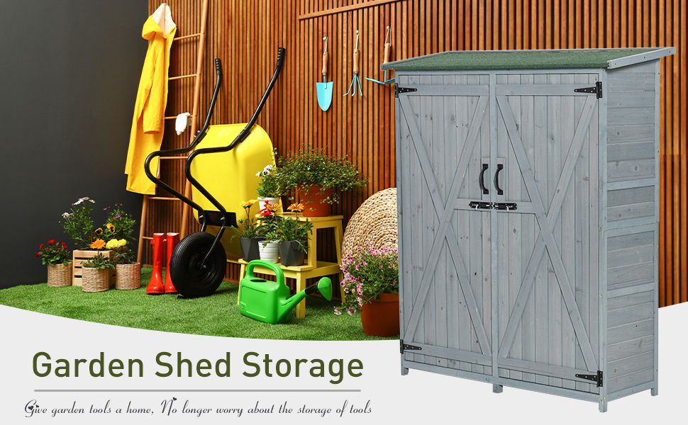 87 x 98 x 148//159 cm Green Storage Shed for Storing Tools Galvanised Steel Without Floor UnfadeMemory Garden Shed