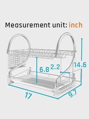 Size of Dish Rack