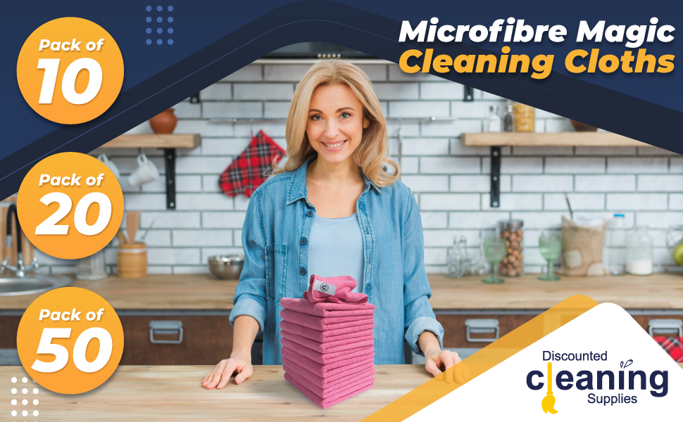 Microfibre Cleaning Cloths Blue, Green, Red, Yellow, Whiite