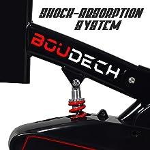 spin bike cyclette da spinning economica con volano professionale 18 kg boudech