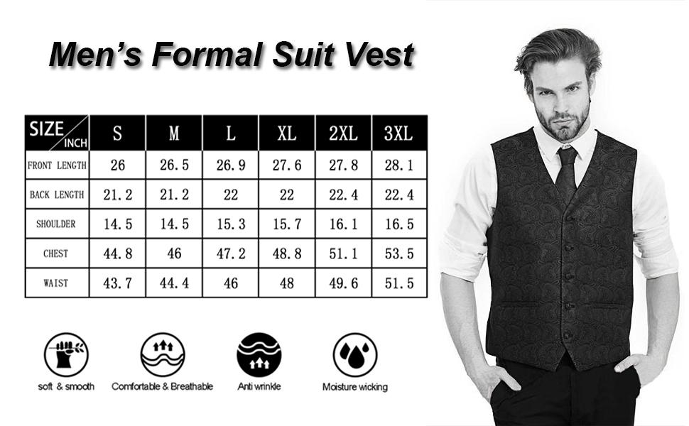 men suit vest length