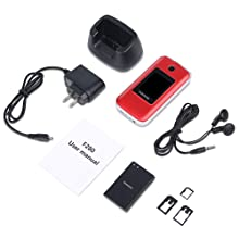 package content, flip phone, battery, charger, manul, earphone, sim card adapters