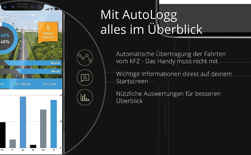 Digitales Fahrtenbuch, Fahrtenbuch, Fahrtenbuch App, App