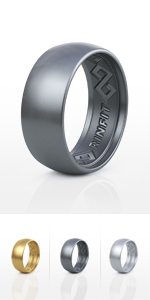Wide Black Sports Rubber Band for Men