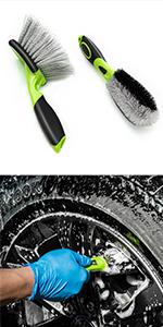 car wheel detail brush