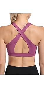 padded workout bra