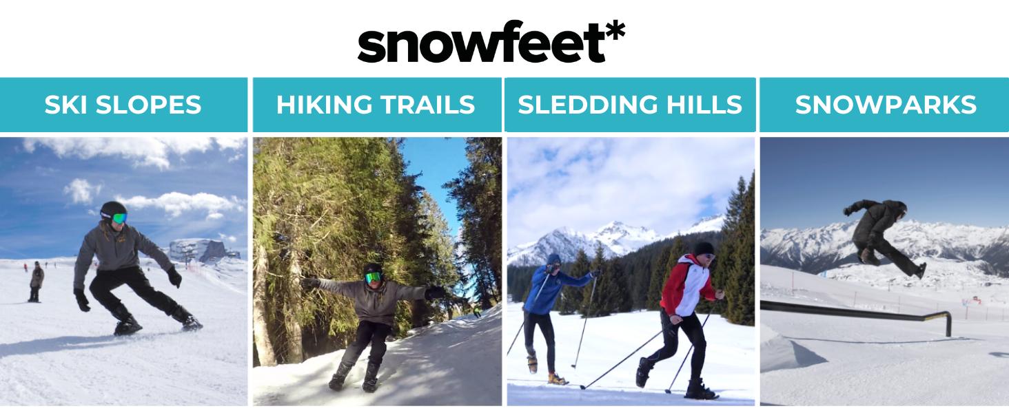 snowfeet where to use mini ski skates