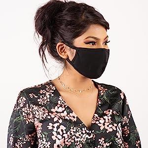 auline collection black face mask unisex women men